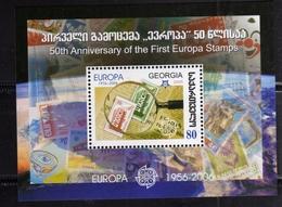 GEORGIA 2006 EUROPA CEPT 50 YEARS BLOCK SHEET BLOCCO FOGLIETTO BLOC FEUILLET MNH - Georgia