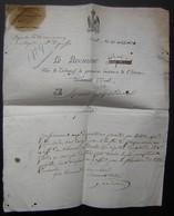 Document De 1814, Du Procureur Royal D'Ussel (Corrèze) Portant Encore L'aigle Impérial - Documents Historiques