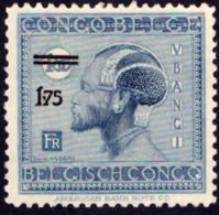 Congo 0134* Vloors Surchargé -H- - Congo Belge