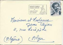 Timbre Johann Stauss Sur Lettre Monaco Et Marque Postale Monté Carlo Collection Galéa - Lettres & Documents