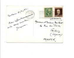 PANAMA CANAL ZONE AFFRANCHISSEMENT COMPOSE SUR CARTE POUR LA FRANCE 1952 - Timbres