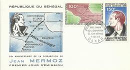 SENEGAL, SOBRE PRIMER DIA JEAN MERMOZ - Senegal (1960-...)