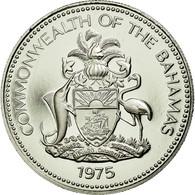 Monnaie, Bahamas, Elizabeth II, 25 Cents, 1975, Franklin Mint, U.S.A., FDC - Bahamas