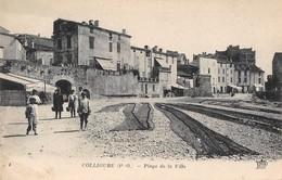 CPA 66 COLLIOURE PLAGE DE LA VILLE - Collioure