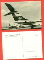 """""""Tu-134""""and """"Il-18"""" GDR 1970. Postcard New. - Airships"""