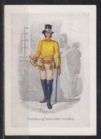"""Dt.Reich Marcophil-Postkarte Serie 1: Altdeutsche Postillione Und Briefboten"""" Bild Nr1 Mit SSt Hamburg 1938 Auf 661 - Germania"""