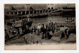 - CPA CASABLANCA (Maroc) - La Darse 1917 (belle Animation) - Photo Maillet N° 57 - - Casablanca