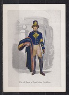 """Dt.Reich Marcophil-Postkarte Serie 1: Altdeutsche Postillione Und Briefboten"""" Bild Nr.7 Mit SSt Hamburg 1938 Auf 660 - Germania"""