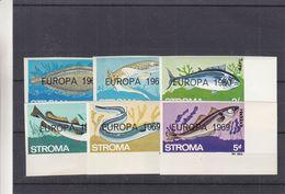 Grande Bretagne - Stroma - Europa 1969 - Série NON Dentelé - Poissons - Anguilles - Emissione Locali