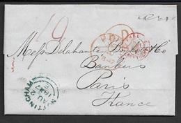 1847 ENTIRE - NOTTINGHAM To PARIS - Postmark Collection