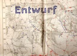 CARTE ETAT MAJOR ALLEMAND 7 Sept 1918 POSITION ALLEMANDE TRANCHEES  JONCHERY Et Environs  FAVEROLLES  FISMES MEURIVAL - Documenti