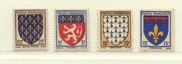 FRANCE  ( F41 - 121 )  1943  N° YVERT ET TELLIER  N° 572/575   N* - France
