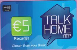 Télécarte Prépayée °° Portugal - HD Talk Home App €5 Recarga - RV - Portugal