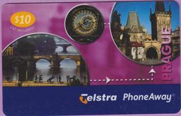 Télécarte Prépayée °° Tchéquie - Telstra Prague 10$ -Phone Away - RV - Tchéquie