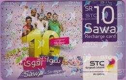 Télécarte Prépayée °° Saudi TC Com - Sawa Recharge - 10 Sr - RV - Arabie Saoudite