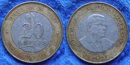MAURITIUS - 20 Rupees 2007 KM# 66 Republic Africa Bi-metallic - Edelweiss Coins - Maurice