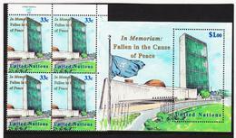 SRO94 UNO NEW YORK 1999 Michl 827 + BLOCK 17 ** Postfrisch SIEHE ABBILDUNG - New York -  VN Hauptquartier
