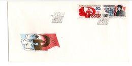 TCHECOSLOVAQUIE FDC 1987 70 ANS REVOLUTION D'OCTOBRE EN URSS - Histoire