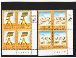 SRO98 UNO NEW YORK 1998 Michl 787/88 ECKRAND-VIERERBLÖCKE ** Postfrisch SIEHE ABBILDUNG - New York -  VN Hauptquartier