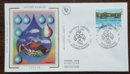 Italie - FDC 1996 - YT N°2167 - ACCORD RAMOGE - 1946-.. République