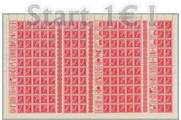 Belgium Léopold II - PUBS - PUc - Kopstaande - Tussenpanneel - Tête-bêche - Interpanneaux - Sheet  De 150 ( Br_st ) - Feuilles Complètes