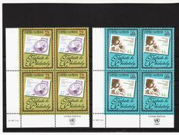 SRO101 UNO NEW YORK 1997 Michl 746/47 ECKRAND-VIERERBLÖCKE ** Postfrisch SIEHE ABBILDUNG - New York -  VN Hauptquartier