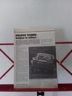 Pilote Rallye Philippe Touren-Article De Presse Clipping 1983 - Voitures