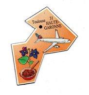 Magnet Publicitaire France Toulouse Haute-Garonne - Avion Jet - Magnets