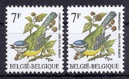 BUZIN  Papier + Kleur Variaties * Nr 2261 * Helder + Dof Wit Papier * Postfris Xx * - 1985-.. Pájaros (Buzin)