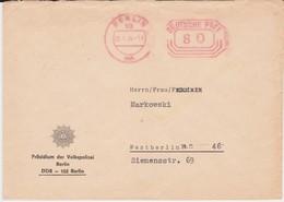 DDR Freistempel Bf W Zustellungsurkunde Volkspolizei Ost Berlin 1974 - [6] République Démocratique