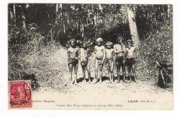 LAOS  /  ETHNOGRAPHIE  /  COOLIES  KHAS  KMOUS  EMPLOYES  AU  PORTAGE  ( HUA  PAHN ) /  ENFANTS - Laos