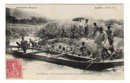 LAOS  /  ETHNOGRAPHIE  /  SUR  LE  MEKONG  /  GRANDE  PIROGUE  DESARMEE  POUR  LE  PASSAGE  D' UN  RAPIDE - Laos