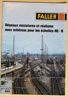 Catalogue Faller 844 Train électrique Réseaux Miniatures Et Réalisme échelles HO.N - Books And Magazines