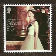 Gibraltar 2016 Micheln° 1726 *** MNH Queen Elisabeth II 90 Th Birthday - Gibraltar