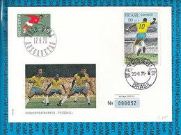 Schweiz / Brasil - Cover 1970 / Fussball Pele Limited Edition - Entiers Postaux