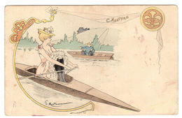 FEMME - Illustrateur G. MOUTON - CANOTAGE - Women