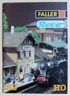 1982 Catalogue Faller Roco HO Train électrique Accessoires - Books And Magazines