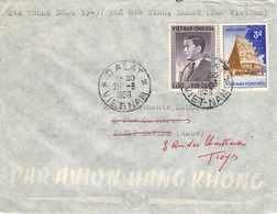 VIET NAM  - Cachet DALAT Et Timbres  Mars 1958  Par Avion - Viêt-Nam