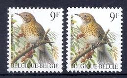 BUZIN  Papier + Kleur Variaties * Nr 2426 * Helder + Dof Wit Papier * Postfris Xx * - 1985-.. Oiseaux (Buzin)
