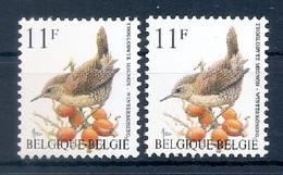 BUZIN  Papier + Kleur Variaties * Nr 2449 * Helder + Dof Wit Papier * Postfris Xx * - 1985-.. Pájaros (Buzin)