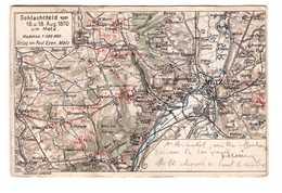 57 Metz Carte Geographique Schlachtfeld Vom 16 18 Aug 1870 Metz Poste Ferrovaire Cachet Convoyeur Batilly à Verdun 1913 - Metz