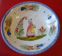 Céramique De Quimper - Assiette Creuse - CCA - SF - COR 014  - Diamètre 20.50 Cm - Poids 405 Grammes - Assiettes