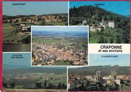 CPM 43 CRAPONNE SUR ARZON Et Ses Environs Argentières St Victor Sur Arlanc St Julien D 'ANCE Bonneval_ Multivues  5 Vues - Craponne Sur Arzon