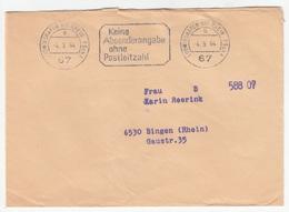 Keine Absenderangabe Ohne Postleitzahl Letter Cover Travelled 1964 Ludwigshafen Am Rhein PSchA Pmk B181215 - [7] West-Duitsland