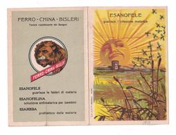 CALENDARIETTO   FERRO CHINA BISLERI  1910  SEMESTRINO - Calendriers