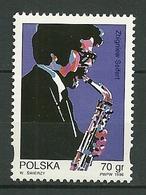 POLAND MNH ** 3404 Hommage Au Musicien De Jazz Zbigniew Seifert, Musique Saxophone - 1944-.... Republiek