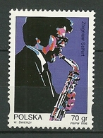 POLAND MNH ** 3404 Hommage Au Musicien De Jazz Zbigniew Seifert, Musique Saxophone - 1944-.... Republic