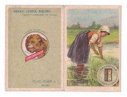 CALENDARIETTO   FERRO CHINA BISLERI  1913  SEMESTRINO - Calendari