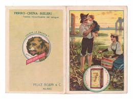 CALENDARIETTO   FERRO CHINA BISLERI  1914  SEMESTRINO - Calendari