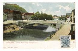SLOVENIE  /  LJUBLJANA  /  CESARJA  FRANC  JOSIPA  JUBILEJNI  MOST  ( Joli Pont De Pierre ) /  CPA  PRECURSEUR - Slovénie
